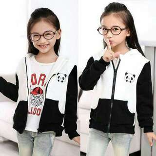 Panda hoodie kids jacket