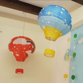 Hot Air Balloon Paper Lantern Party Decoration