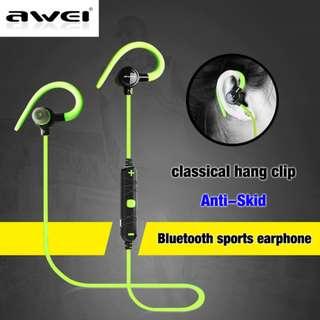 Superbass Noise Isolation Wireless Earphone Earpice Awei A620BL