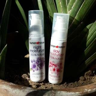 Day and Night Moisturizers + Lip Shine