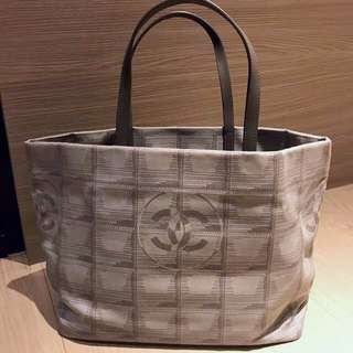 Chanel canvas tote bag - grey color