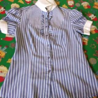 Stripe Blue Blouse