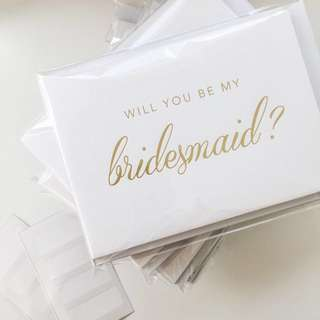 Bridesmaid's Cards