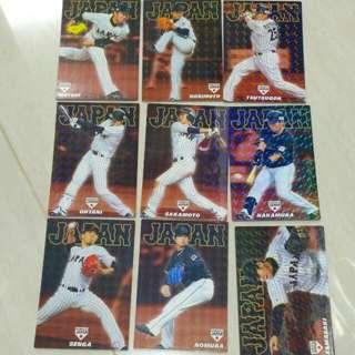 日本職棒 棒球卡 ,大谷,阪本,筒香