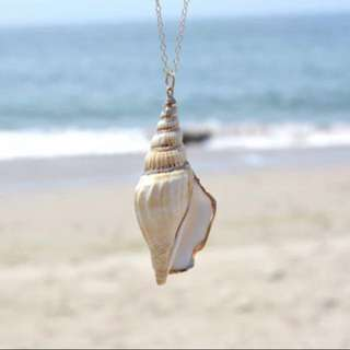 🌿 Seashell Pendant with Adjustable Chain