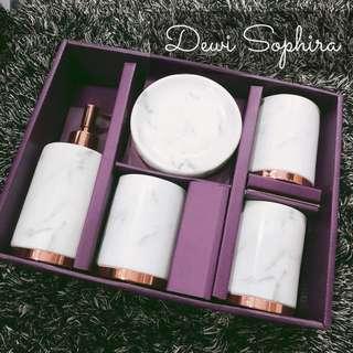 Ceramic Marble Bathroom Accessories Set of 5