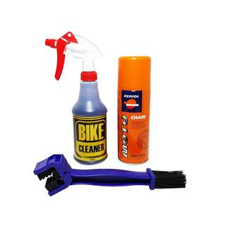 Package Bike Cleaner Degreaser Repsol Chain Lube Brush Motorcycle