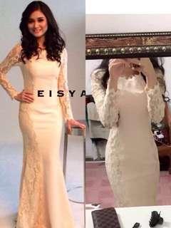 Beige Lace Dress (DINNER DRESS)
