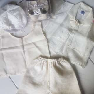 pambinyag set for your baby boy fits 6mos- 1yr old