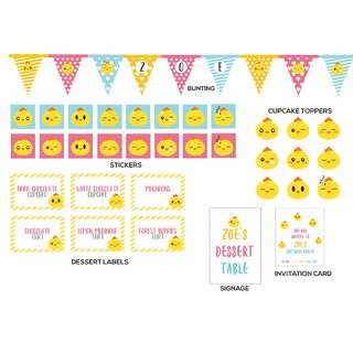 Baby Chick Birthday Collection
