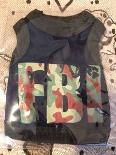 Sleeveless miniature puppy army singlet (FBI)