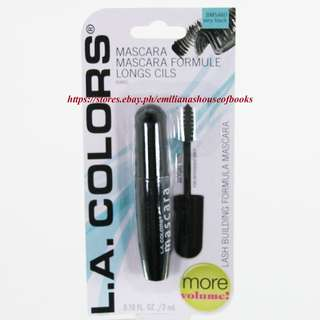 1PC L.A. COLORS MASCARA 3ML #BMS460 VERY BLACK