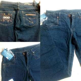 Celana Jeans Wanita Biru Big Size