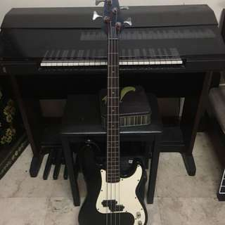 Vantage bass guitar and global amp