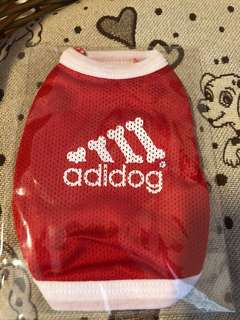 Miniature Puppy Adidog sleeveless singlet (red)