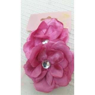 Angels girl hair tie pink flower