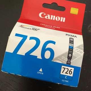 Canon CLI 726 C Cyan Printer Ink for PIXMA IP4870, IP4970, IX6560, MG5170, MG5270, MG5370, MG6170, MG6270, MG8170, MG8270, MX886, MX897
