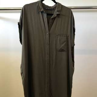 Zara Oversized Shirt-Dress