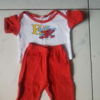 sesame street terno for 0-3 mos old