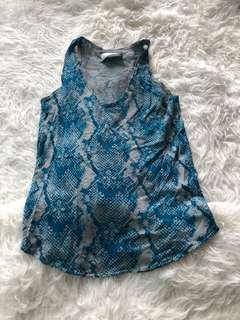 Zadig & Voltaire Blue Cashmere Vest sz s