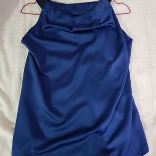 Luna Habit Blue Halter Neck Top [Worn Once]
