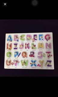 Alphabet Wooden Blocks~ Education tools