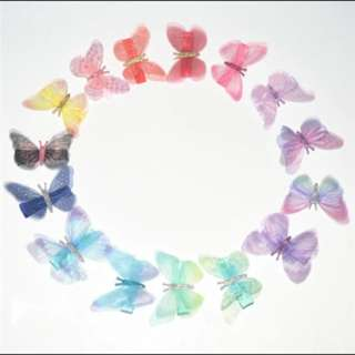 🐰Instock - butterfly hair pins, baby infant toddler girl children sweet kid happy abcdefg