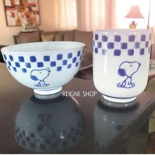 SNOOPY TEACUP AND BOWL SET