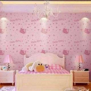 Hello Kitty Adhesive Wallpaper