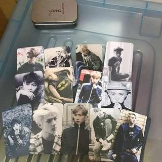 EXO LAY SEHUN 飯卡 一套連鐵盒包平郵