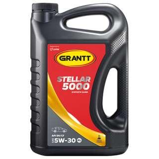 UMW GRANTT STELLAR 5000 5W-30 SYNTHETIC BLEND ENGINE OIL
