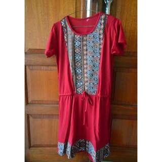 Red Ethnic Dress
