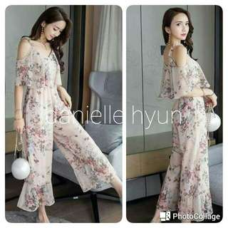🔴Premium floral jumpsuit  with lining