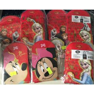 Disney 迪士尼 Minnie Frozen Elsa Anna 長+短 利是封共有7包 Red Pockets Laisee CNY Chinese New Year 紅封包