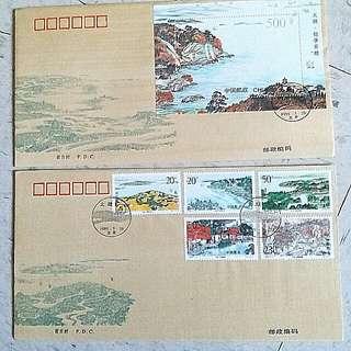 中國古典風景郵票 China stamp