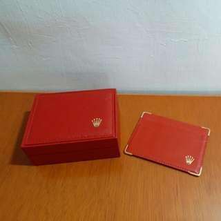 Rolex錶盒連錶枕及證件套