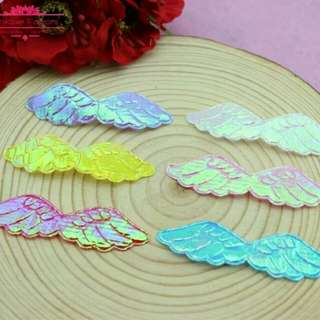 Angel Wings Shiny Fabric Appliques