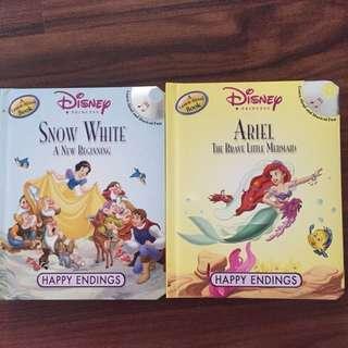 Children's Books - Disney the little mermaid/Snow white a new beginning