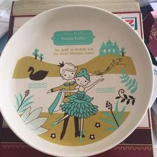 7-11 竹製童話故事碟 天鵝湖 Shinzi Katoh Swan Lake Plate