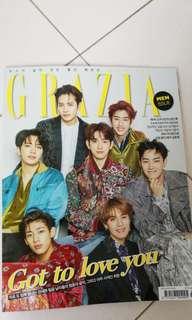 WTB grazia magazine got7