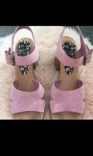Gorman pink suede heels