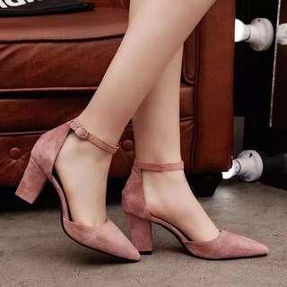 Instocks - Pink Low Heels ✨
