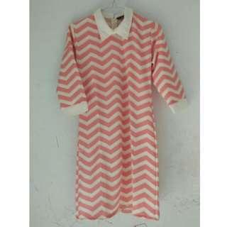 pink colar dress