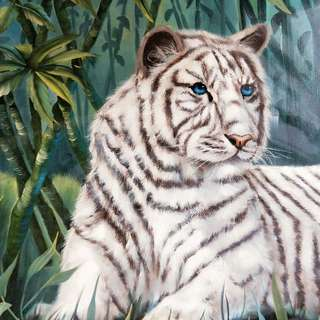 White Tiger 🐯 Oil Painting