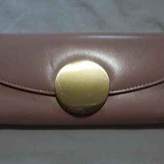 blush pink long wallet