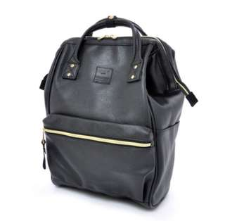 Anello Leather Backpack - Black