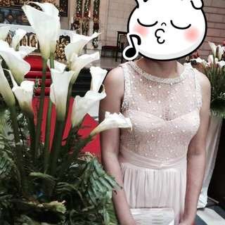 Formal Gown - Nude/Light Peach
