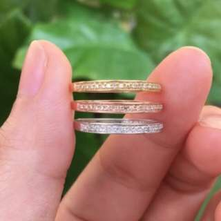 Classic Solid 18K Gold Real Diamond Wedding Band 750 White Gold Anniversary Rings For Women Ladies Ring Fine Jewelry