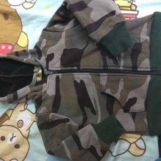 韓國迷彩絨棉外套