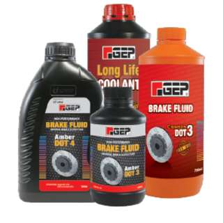 UMW GEP GENUINE OEM BRAKE FLUID LONG LIFE RADIATOR CONCENTRATED COOLANT